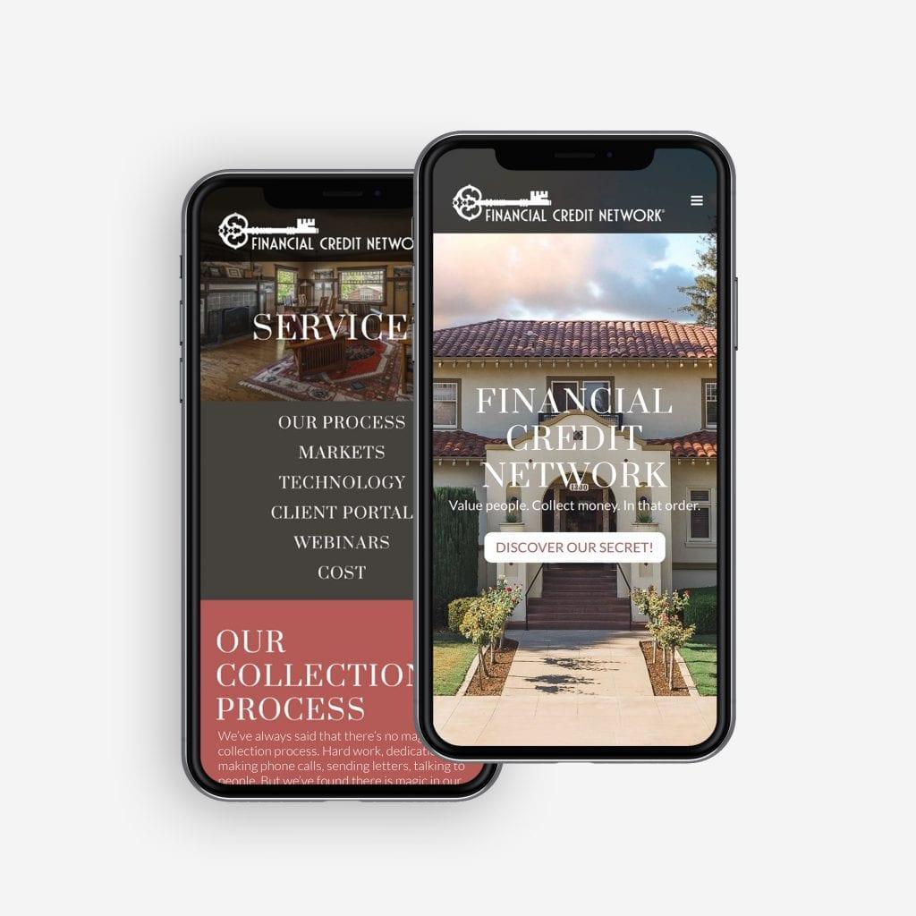 FCN mobile mockup